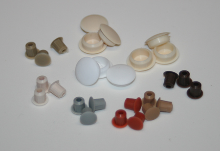 Caps to hide unused shelf-adjustment holes and 10mm holes in furniture, window and door frames and more!  96 Colours