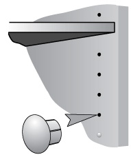 5mm Holefix caps hide unsightly shelf-adjustment holes and keep the cupboard/wardrobe more hygienic